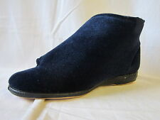 "MENS BALMORAL NAVY BLUE TOUCH FASTENER SLIPPERS ""ALBERT"""