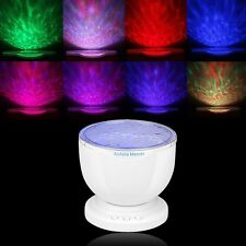 Ocean Blue Sea Waves Projector Lamp LED Night Light Projector With Mini Speaker