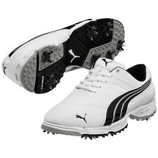 PUMA Fusion Sport Men's Golf Shoes - WHT/BLK/SVR - 7 or 7.5
