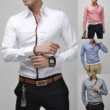 Hot Fashion Mens Luxury Casual Stylish Slim Fit Long Sleeve Casual Dress Shirts*