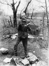 A 1945 Photo of Belgian Prisoner in Nordhausen,Germany, liberation of U.S. Army