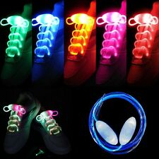 LED Shoelaces Shoe Laces Flash Light Up Glow Stick Strap Shoelaces Disco Party~