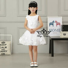 Flower Girl Dress Princess Pageant Wedding Birthday Prom Party baptism skirt new