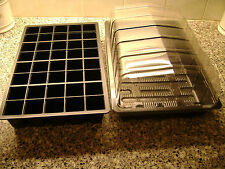 10 FULL SIZE SEED TRAYS WITH OR WITHOUT HOLES+10 PROP TOPS+10 X 40 CELL TRAYS