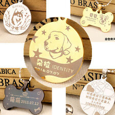 Dog Tags Cat Tag Pet ID Name Tag S/Steel Custom Personalized Engraved Photo Free