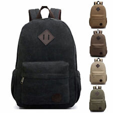 Canvas Men's Vintage Backpack Rucksack Laptop School Shoulder Travel Camping Bag