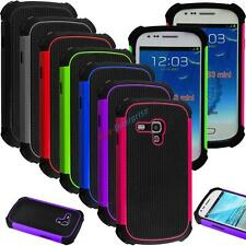 Hybrid Impact Rubber Matte Hard Case Cover For Samsung Galaxy S3 Mini III i8190