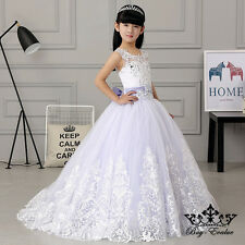 Flower Girl Dresses Princess Pageant Wedding Birthday Prom baptism best Pageant