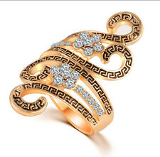 Fashion Women Jewelry Ring Rhinestone Hollow Long Finger Knuckle Punk Rings Gift