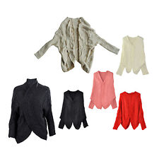 Knitted Cardigan Batwing Outwear Lady Casual Loose Sweater Coat Wool Top L3