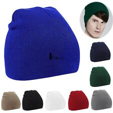 HOT Unisex Women Men Beanie Hat Warm Winter Short Ski Knit Hat Charm Solid ILOE