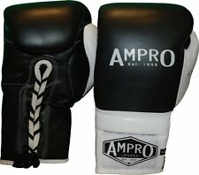 Ampro Madison MKII Lace Up Sparring Gloves - Boxing / Professional / Spar