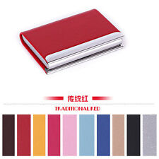 Contracted beautiful Leather Business Credit ID Card Holder Cases Wallet Gift