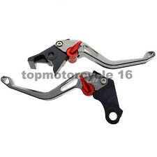 FXCNC For BMW HP2 SPORT 08-11 Short Gray 3D Rhombus Brake Clutch Hollow Lever