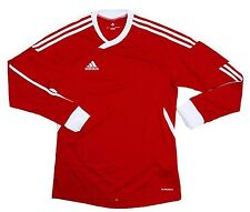 NWT Adidas Men Tiro 11 Tee Climacool Top Soccer Fitness Red L/S Jersey 39868