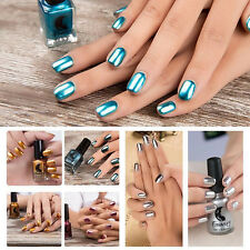 DIY 6ML Magic Mirror Effect Lacquer Dust Chrome Shinning Pigment Nail Art Polish