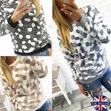 Womens Jumper Pullover Hoodies Top Winter Sweatshirt Ladies UK Size 6-14