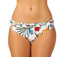 Audelle Lepel Tropical Fever Mid rise Hipster Bikini Brief Pant White Floral 10