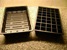 3 TO 40 FULL SIZE SEED TRAYS AND and 40 CELL FULL SIZE SEED TRAY INSERTS