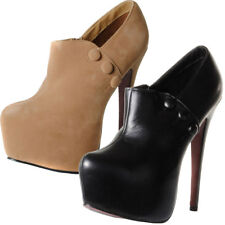 Pointed Concealed Platform Stiletto Heel Shoes  Womens Size