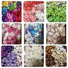 100 Artificial Mulberry Paper Blossom flowers Petal Handmade Scrap-booking 2 cm.