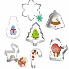 Christmas Ornament Biscuit Cookie Cutter Baking Mold Stainless Steel Tool