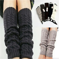 Womens Winter Knit Crochet Knitted Leg Warmers Legging Boot Cover Hot Fashion EF