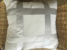"Hotel Collection Meridian Quartz 18"" x 18"" Square Silver Decorative Pillow NWT"