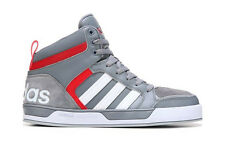 ADIDAS MENS NEO RALEIGH 9TIS HIGH TOP SNEAKER GREY RED SHOES **FREE POST AUST