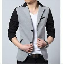 Mens Blazers Korean Dress formal Cotton Lapel Collar Slim Coat Jacket new Hot @@