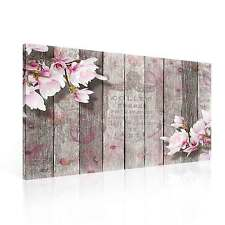 Pattern Floral Wood Pink  CANVAS PRINT WALL ART XXL (PP2351WS)