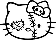 Hello Kitty - Zombie - Vinyl Car Window and Laptop Decal Sticker