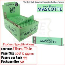 Mascotte Ultra Thin Kingsize Slim Size Rolling Papers -Multi Listings & Full Box