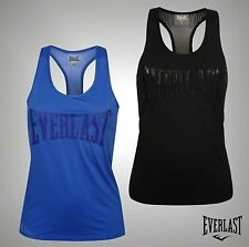 Ladies Branded Everlast Workout Gym Training Mesh Panel Tank Top Vest Size 8-14