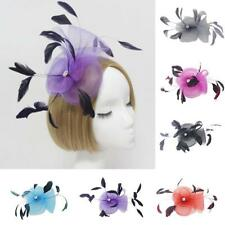 Feather Wedding Ladies Day Fancy Ascot Race Fascinator on Clip Hair Accessories
