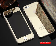 Mirror Tempered Glass Front+Back Screen Protector For iphone 7 6 Plus 5 5S SE 4S