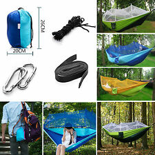 Outdoor Travel Swing Chair Hanging Bed Camping Portable Mosquito Net Hammock New