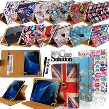 "For Various 7.0"" 8.0"" Samsung Galaxy Tab - Leather 360 Rotating Stand Cover Case"