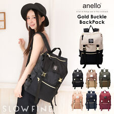 ANELLO Japan Gold Buckle Flap Handle Backpack Campus Rucksack Canvas School Bag