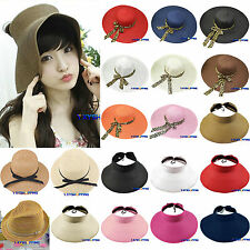 Womens Bohemia Beach Packable Hat Wide Brim Straw Casual Cloche Derby Summer Cap