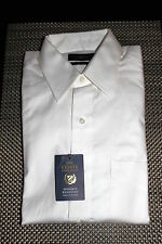 CLUB ROOM MENS WRINKLE RESISTANT PINPOINT DRESS SHIRT WHITE 7 SIZES $52.50 NWT