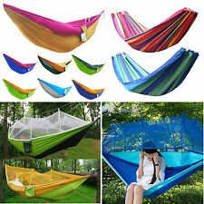Outdoor Yard Camping Travel Hanging Bed Hammock Mosquito Net Fabric Swing Chair