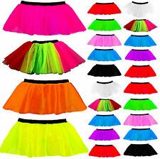NEW NEON UV TUTU SKIRTS 1980's FANCY DRESS HEN PARTY COSTUME ADULTS