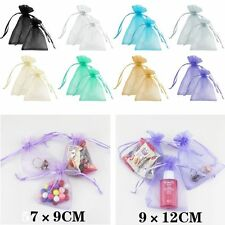 50 pieces Sheer Organza Wedding Party Favor Decoration Gift Candy Pouch Bags