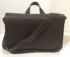 New KORCHMAR Dallas F1253 Natural Leather Postal Bag Briefcase $310