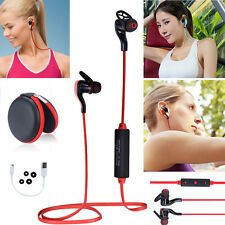 Red H44 Bluetooth Stereo Earphone Earbuds Sport Headset Headphone For Call Phone
