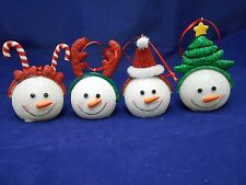 LED Color Changing Snowman Ornaments (4 to Choose from)