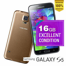 Samsung Galaxy S5 4G 16GB SM-G900V 16MP Gold Android Phone 100% Unlocked