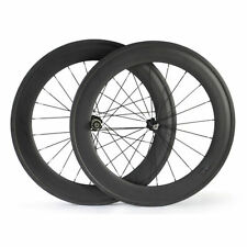 Ship From UK New 88mm Clincher Carbon Wheels Racing Bicycle Road Bike Wheelset