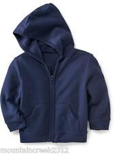 New OLD NAVY Boys Jacket Size 0 3 6 12 months Waffle Knit Cotton Zip Hoodie Blue